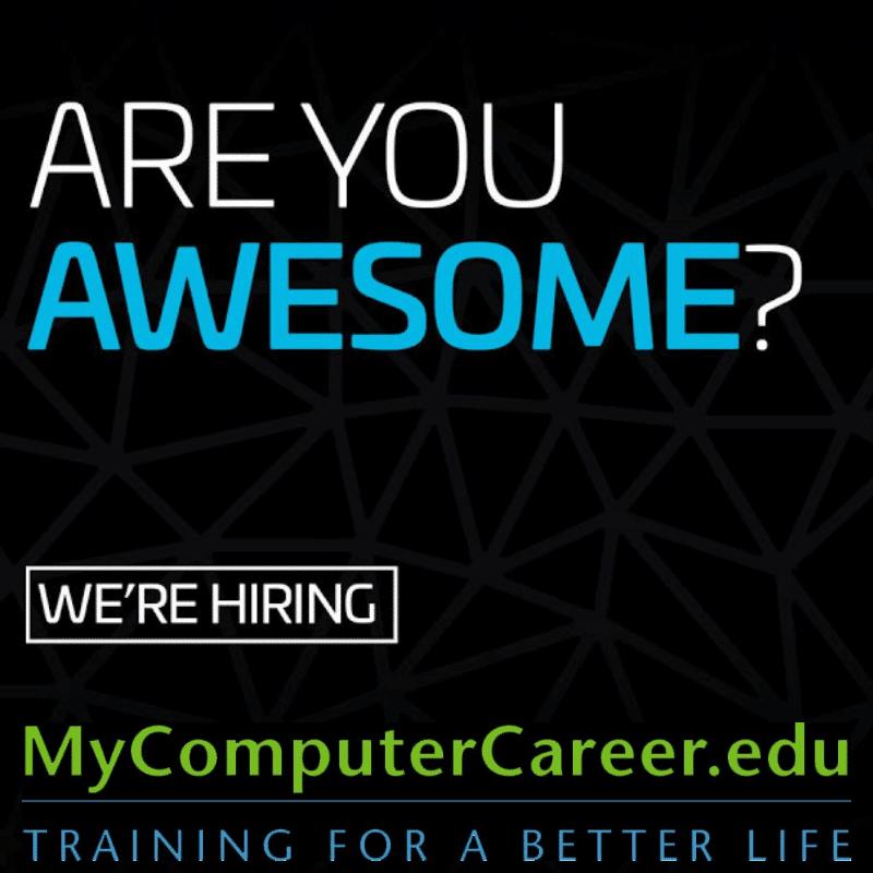 We Want You! Newest MyComputerCareer Location is Hiring, MyComputerCareer, mycomputercareer.com, mycomputercareer.edu, my computer career, my computer career jobs